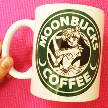 Moonbucks Coffee Mug |  Sailor Moon Starbucks |  Anime