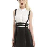 Black Strappy Suspender Circle Skirt