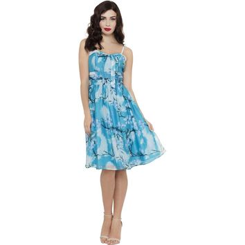 Clara Blue Cherry Blossom Dress