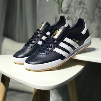 """"""" Adidas Jeans MKII"""" Men Fashion Multicolor Stripe Leather Surface Retro Casual Plate Shoes Sneakers"""