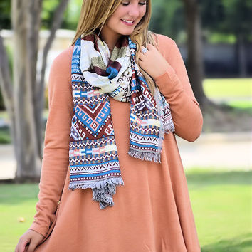 Icing On The Cake Tunic-Rust