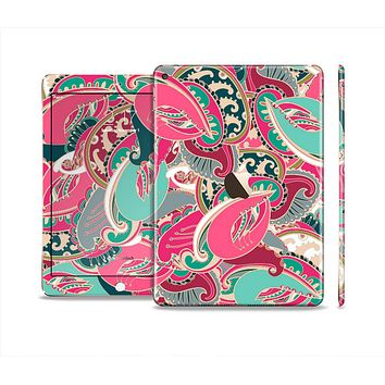 The Colorful Pink & Teal Seamless Paisley Skin Set for the Apple iPad Air 2