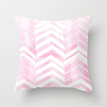 Pretty in Pink Chevron Throw Pillow by The Velvet Owl Design Studio | Society6