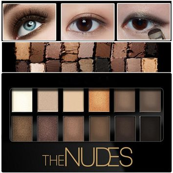 12color Pigment Bronzer Glitter Matte Eye Shadow Brand Cosmetics Eyes Makeup Palette Nude Eyeshadow Kit