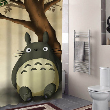 totoro specials custom shower curtains that will make your bathroom adorable.