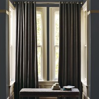 Velvet Grommet Curtain - Iron