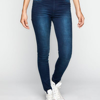 Tinseltown Womens Pull-On Skinny Jeans Dark Blast  In Sizes