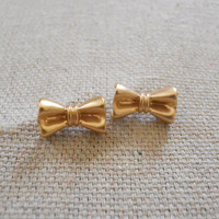 Bow Tie Earrings [3677] - $12.00 : Vintage Inspired Clothing & Affordable Summer Frocks, deloom | Modern. Vintage. Crafted.