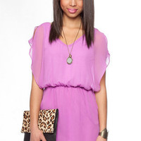 Springtime Flutter Dress in Violet :: tobi