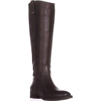 I35 Fawne Wide Calf Riding Boots, Chocolate, 8 US