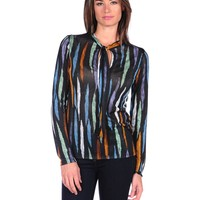 Majestic Long Sleeve Colored Blouse - Multi