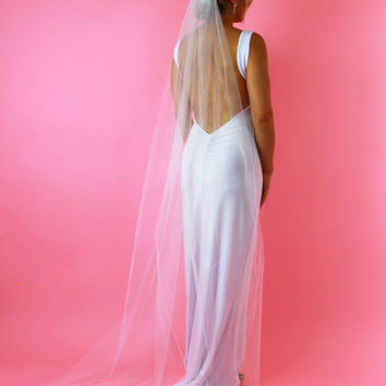 Long Bridal Illusion Veil