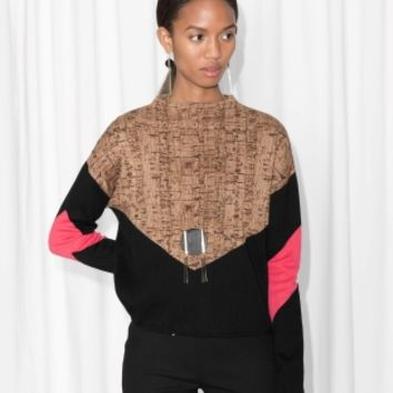 & Other Stories | Cork Oak Print Sweater | Cork Oak Print