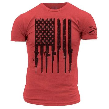 New GRUNT STYLE R.E.D. RIFLE  FLAG   T Shirt