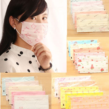 20pcs Candy Salon Non Woven Disposable Face Mask Dust Proff Ear Loop Medical Mouth Full Random Colors Free Shipping