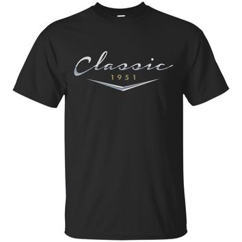 Men's Classic Car Vintage 1951 Birthday T Shirt Gift for Him, Dad