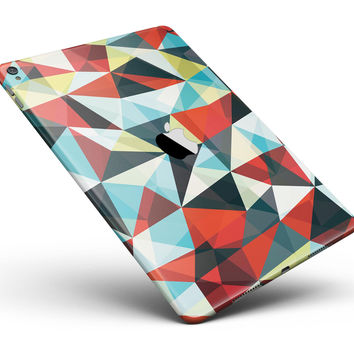 "Vector Red and Blue 3D Triangular Surface Full Body Skin for the iPad Pro (12.9"" or 9.7"" available)"