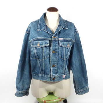 Denim Jean Jacket Vintage 1990s Guess Women's size M Medium
