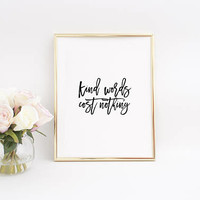 BE KIND SIGN,Be Kind Svg,Be Kind Anyway,Quote Printable,Modern Wall Art,Nursery Wall Art,Wall Art,Black Typography,Typography Print,Wall Art