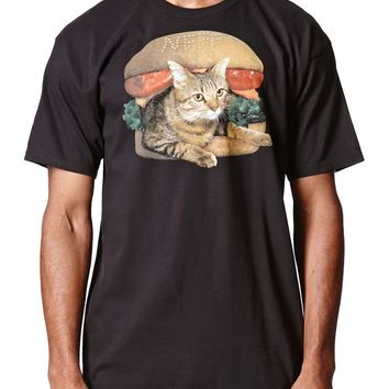 Neff Burger Cat T-Shirt - Mens Tee - Black