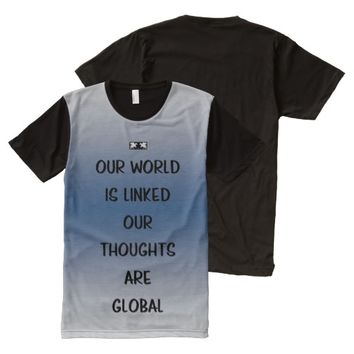 Global Quote by Kat Worth Men's All-Over-Print Shirt