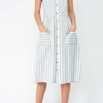 Lexie Striped Linen Sun Dress