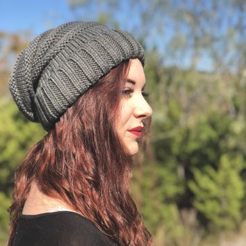 Charcoal Beanie Baby Hat