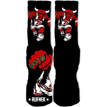 Rufnek Hardware In Yo Face 72-10 11's Socks
