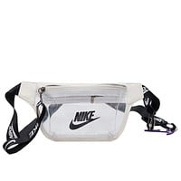 NIKE New fashion letter hook print couple shoulder bag