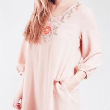 Embroidered Tassel Tunic w/ Pockets