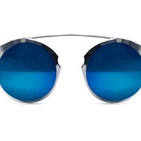 Intergalactic Sunglasses with Silver Frame and Blue Mirror by Spitfire