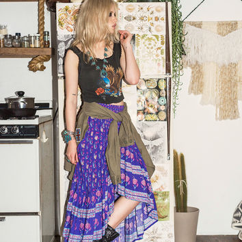 Bohemian Royale Maxi Skirt - Deep Purple