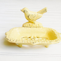 Cast Iron Soap Dish, Choose your Color, Bird Soap Dish, Bathroom Soap Dish, Decorative Soap Dish, Bathroom Decor, Shabby Chic Decor