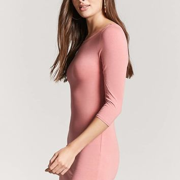 Dolphin-Hem Bodycon Dress