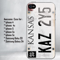 License Plate Supernatural for iPhone 4/4S/5/5S/5C and Samsung Galaxy S3/S4