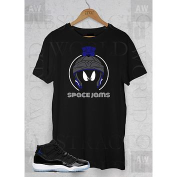 Air Jordan 11 Space Jam Sneakers Marvin XI Adult Unisex T Shirt