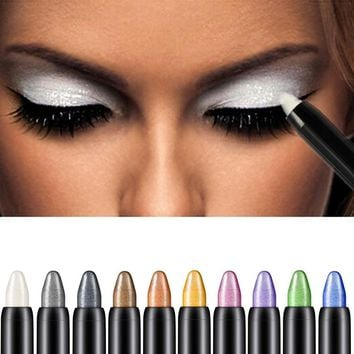 Beauty Highlighter Eyeshadow Pencil maquiagem make up Eye Shadows single q70818