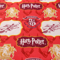Hogwarts Fabric Harry Potter Gryffindor Fabric Movie Fabric Harry Potter Fabric Cotton Fabric Character Fabric