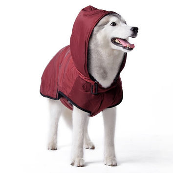Classic Trench Coat For Dogs - Maroon