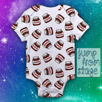 Nutella Pattern Baby Onesuit Baby Romper Baby Jumpsuit