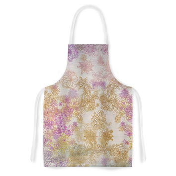 "Marianna Tankelevich ""Retro Summer"" Yellow Pink Artistic Apron"