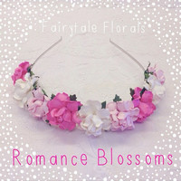 Romance Blossoms Floral Crown headband
