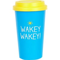 River Island Womens Blue wakey wakey travel mug