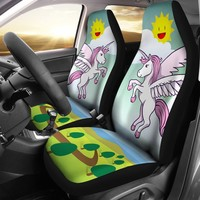 Cartoon Unicorn Print Car Seat Covers-Free Shipping