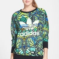 Women's adidas 'Rave' Butterfly Print French Terry Sweatshirt,