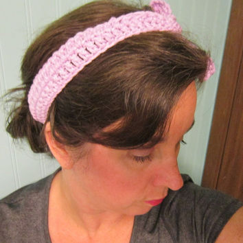 Knotted Cotton Headband, One Size Fits All Crochet Cotton Headband, Hair Fashion