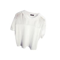 Stringed Neckline Tee