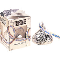 Silver Hershey's Kisses Big Milk Chocolate Candy: 7-Ounce Gift Box | CandyWarehouse.com Online Candy Store