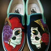 Custom Painted Vans by LittleMissApril on Etsy