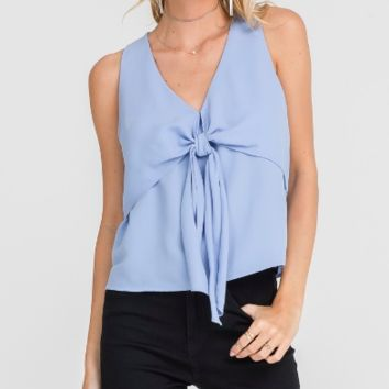 Women's V-Neck Tank with Front Tie